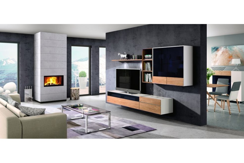 Spartherm Single Large wood fire.