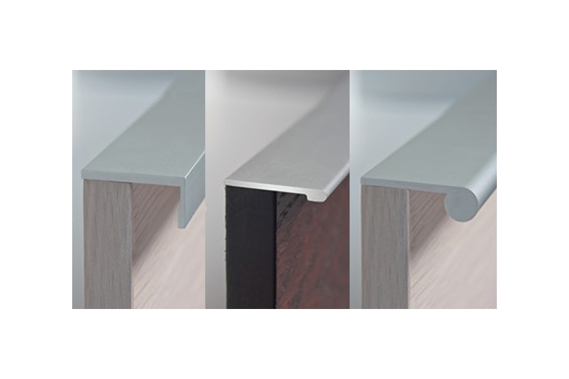 HB Continuous drawer pulls come in a range of styles and finishes.