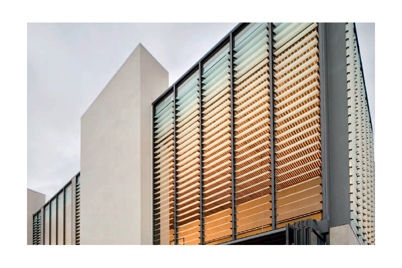 Louvres can provide both ventilation and a strong architectural statement