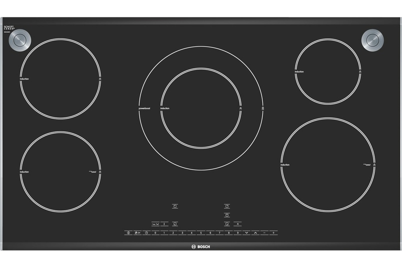 90cm induction cooktop.