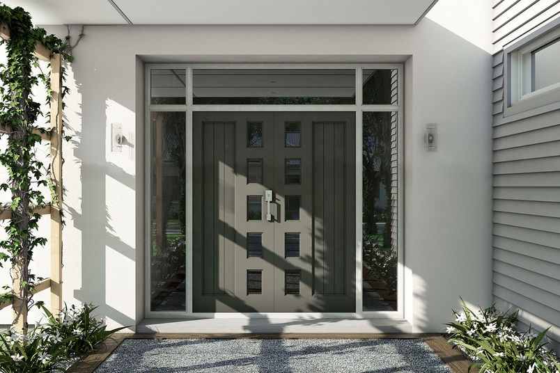 Stellar Doors are powder coated to provide both decorative and protective advantages.