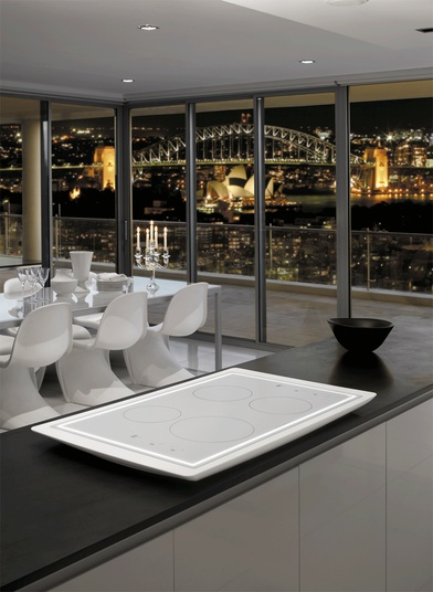 Aurora Induction Cooktop In White Corian By Electrolux