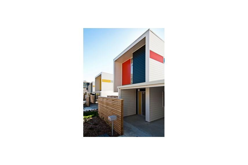 Resene X-200 waterproofing membrane features – exterior of the award winning Regent Park Development
