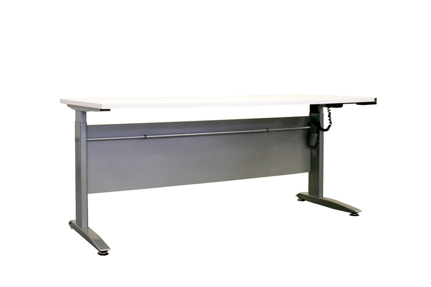 The desk is available in a range of sizes, from 690cm-1210mm