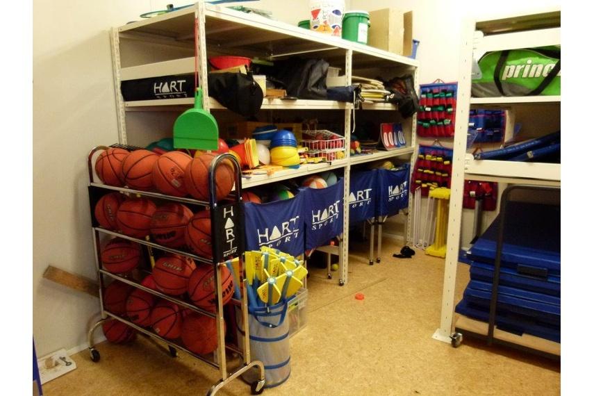 Gym Storage.