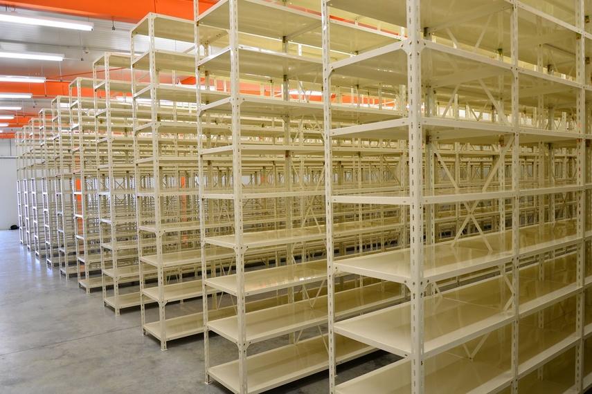NZ Film Archive shelving.