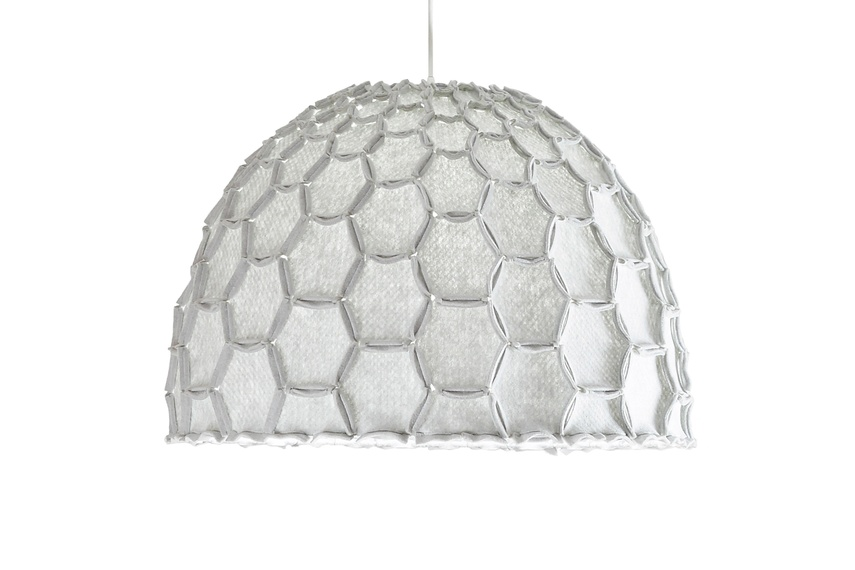 The Nectar lampshade in light grey.