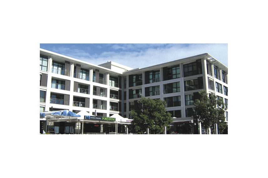 Citta Apartments tilt slab – Resene Concrete Primer followed by Resene X-200 waterproofing membrane