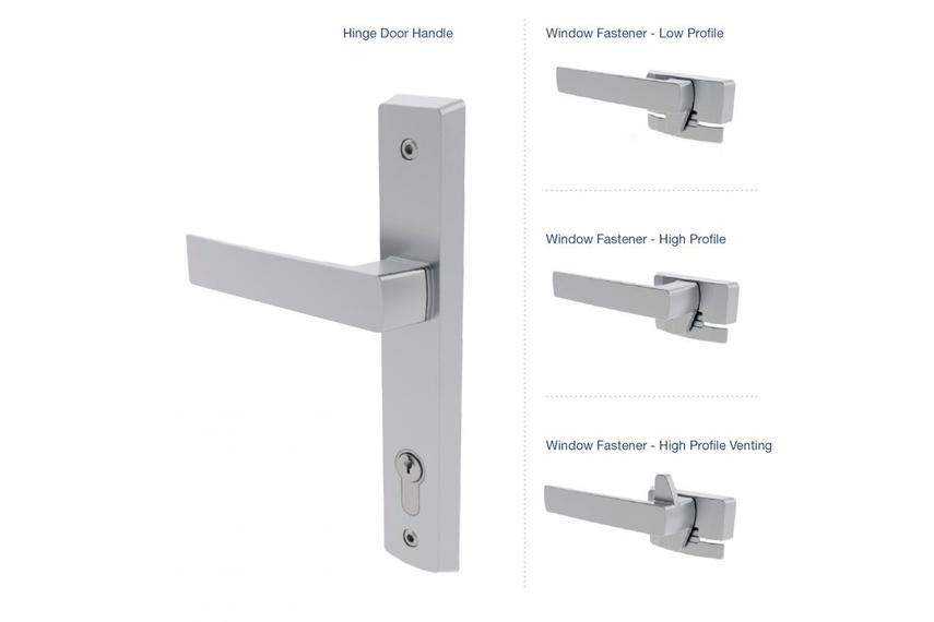Malta® hinged-door and window fastener options