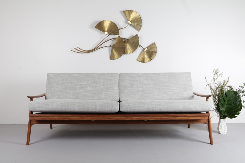 Teak sofa daybed by Parker.