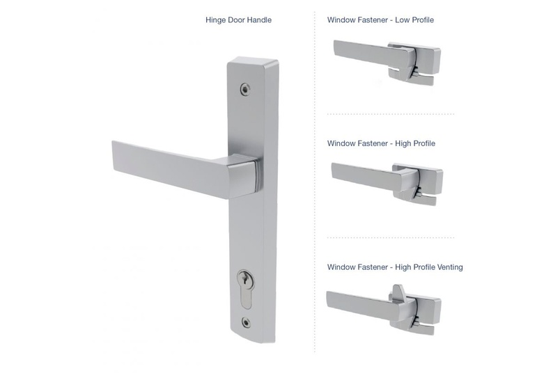 Malta® hinged-door and window fastener options