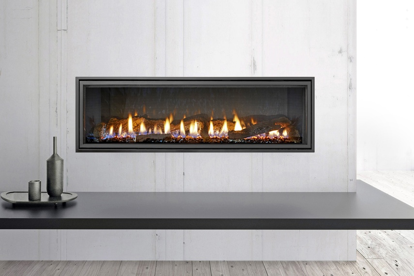 The Mezzo 1300 gas fireplace by Heat & Glo.
