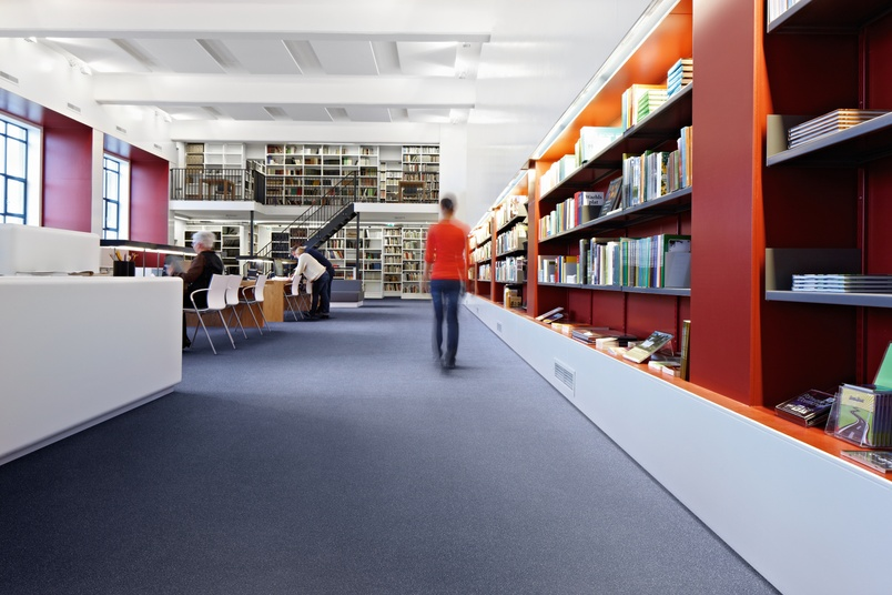 Library with Forbo Sarlon vinyl.