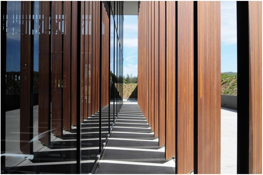 Hyne Beam 21C glulam timber beams.