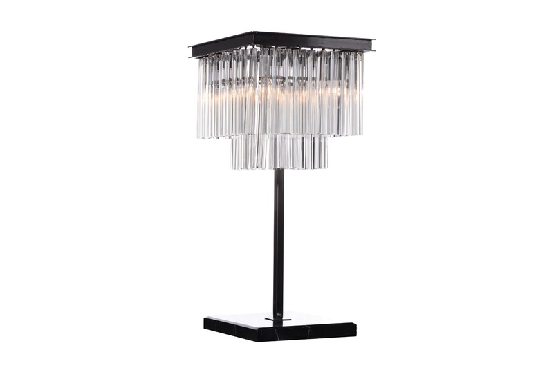 Paradise chandelier table lamp.