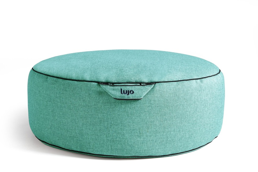 Tulum ottoman (indoor/aqua).
