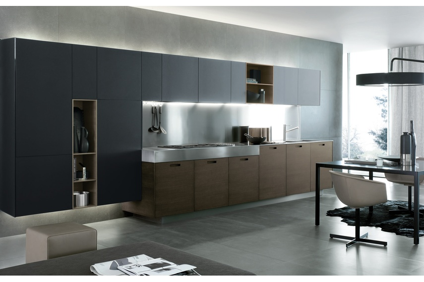 Kyton is a kitchen expressing an evolved and informal living solution.