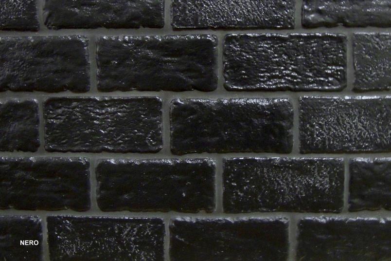 Muro Vecchio bricks in black.