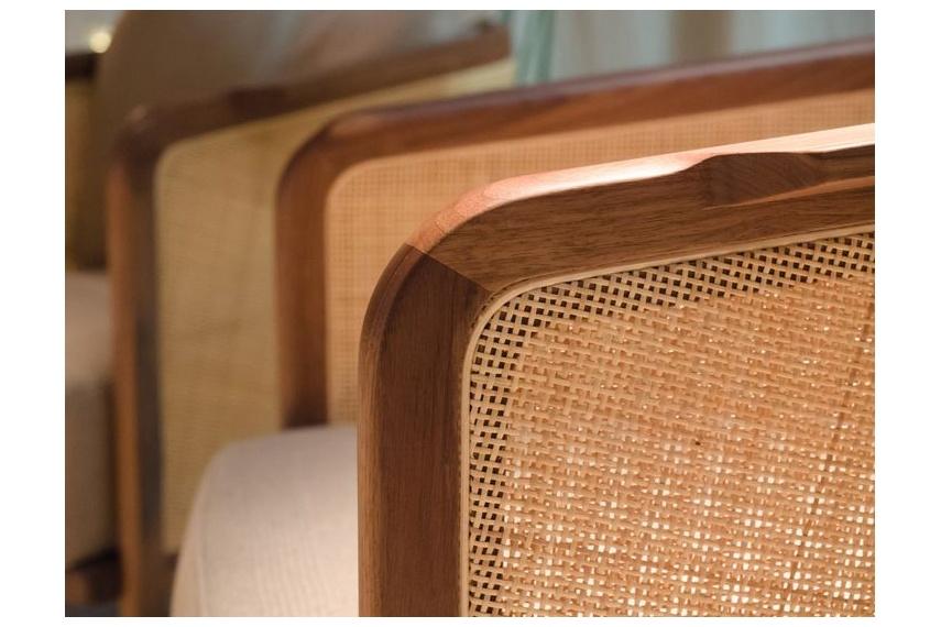Detail of the Mondo armchair.