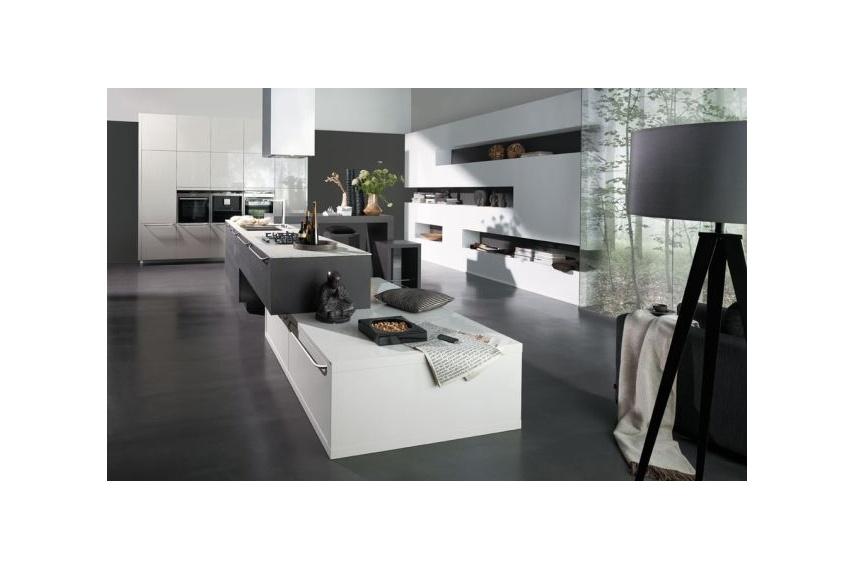 Atmos textured modern kitchen design featuring high