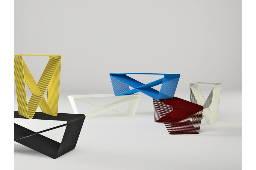 Steel tables designed by Nathan Goldsworthy
