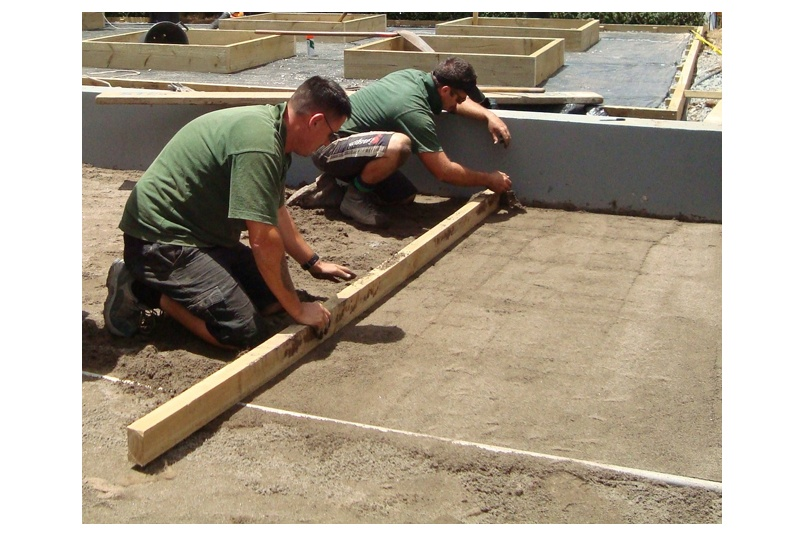 Preparation for installation of lawn