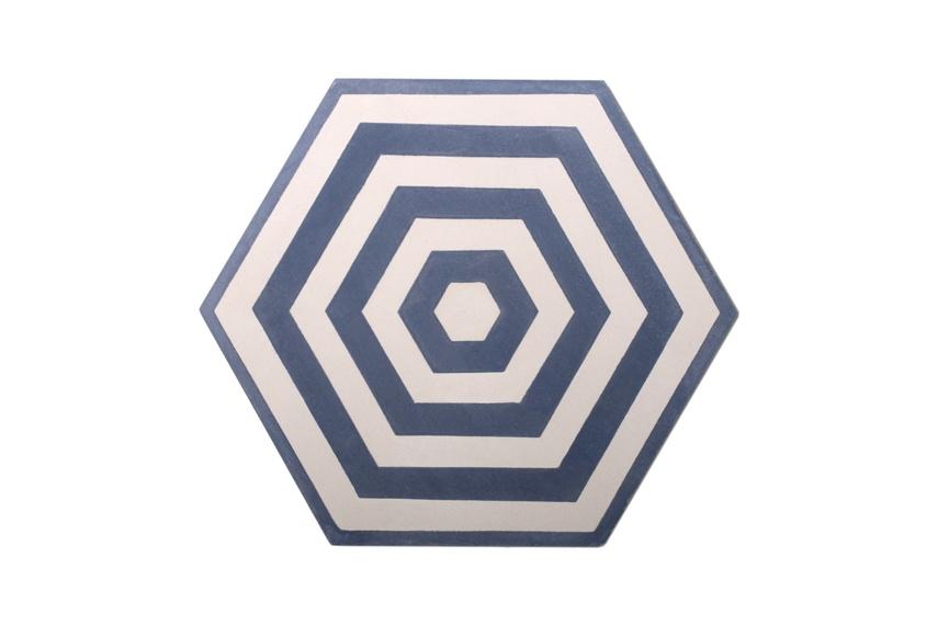 Encaustic Target tiles.