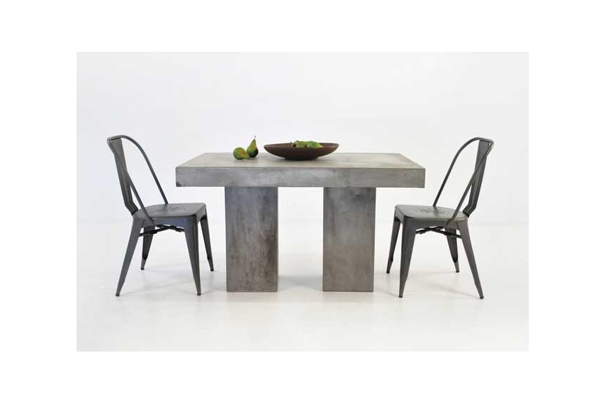 Concrete table and Alix chairs