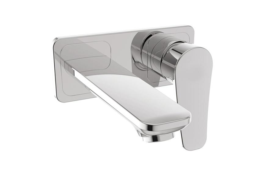 Milano wall-mounted basin mixer.