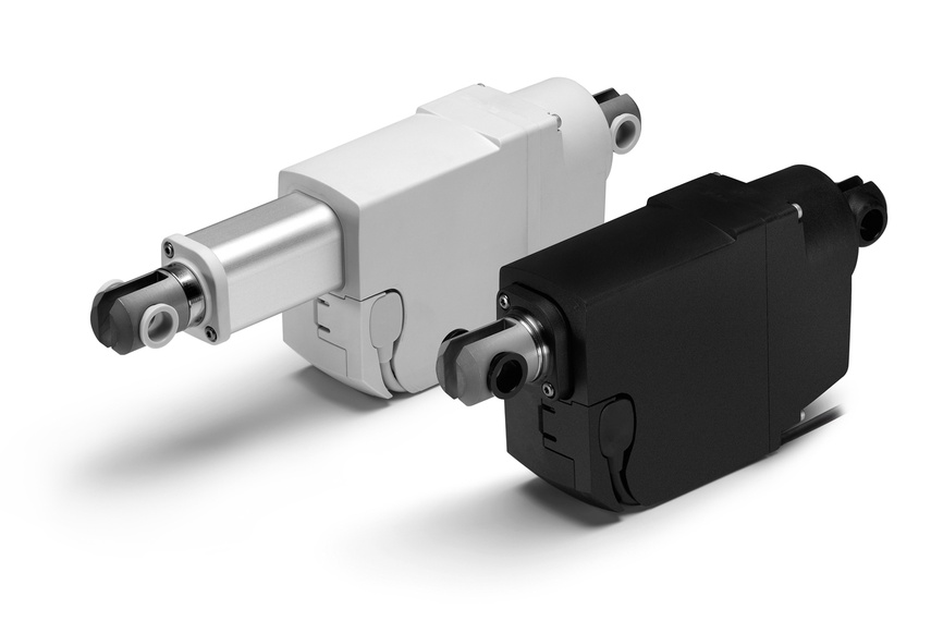 Linear actuator LA23 is available in black and grey