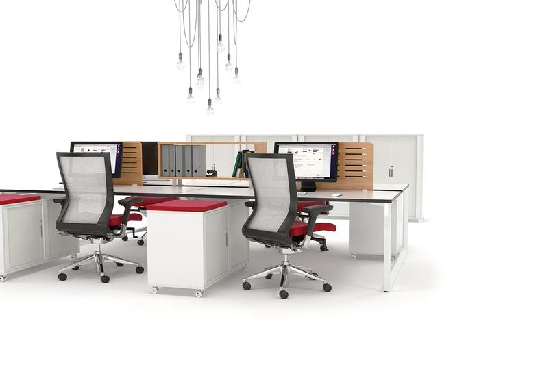 Anvil desks 4Pod tambour storage