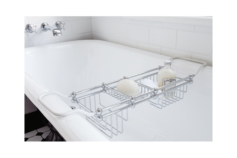 Perrin & Rowe bathrack with reach of up to 810mm across bath