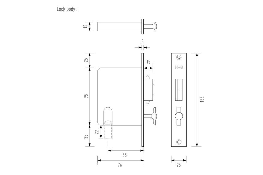 Lock body line diagram