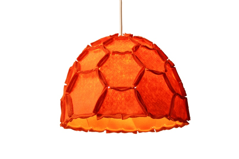 The Nectar lampshade in orange.