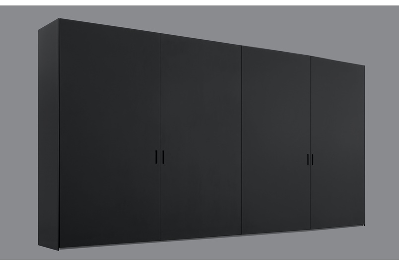 Poliform Ocean wardrobe with coplanar sliding doors in mat lacquer colour - moka