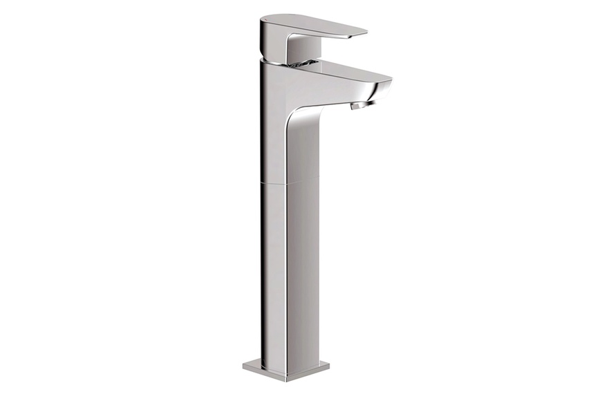 Elliptic extended height basin mixer.
