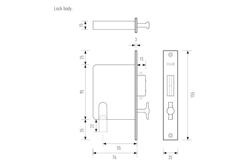 Hb 695 Sliding Door Privacy Set By Halliday Amp Baillie