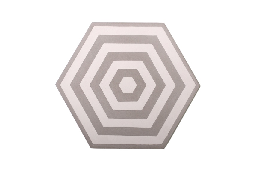 Encaustic Target tiles: patterns are composed using four tiles.
