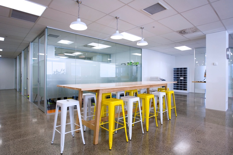 Leaners are becoming an increasingly popular feature in office spaces.