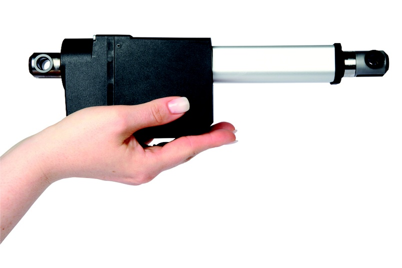 Linear actuator LA23 is small enough to fit the hand