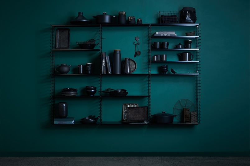 Tomado shelving system (Black).