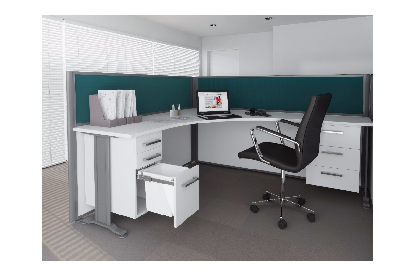 Ideal use in an office environment – keeping waste off the ground and allowing for easy access within a workstation (KC15D shown above).
