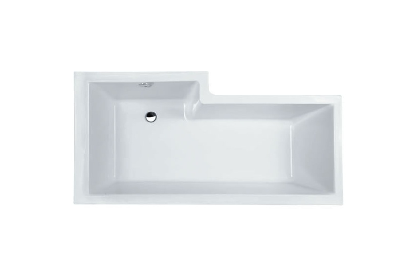 Right hand shower bath 1700mm, includes waste and sealing strip