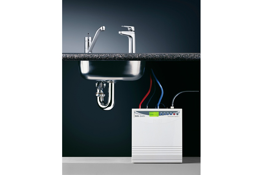 Provides filtered hot and chilled drinking water plus hot water for your sink mixer