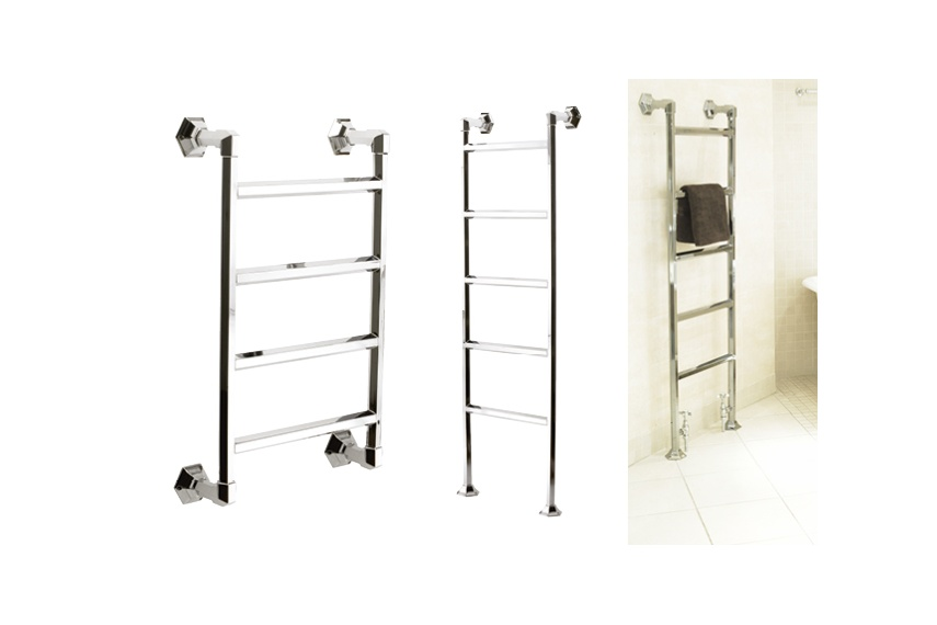 Hawthorn Hill offer a range of floor or wall mounted Art Deco towel warmers, custom sizes available