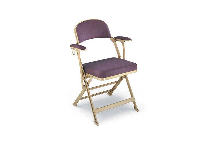 3402 FSAF – Double rolled steel frame with upholstered seat, back and folding arms
