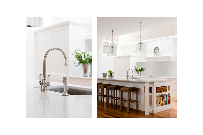Perrin & Rowe Phoenician kitchen tap with spray rinse in pewter finish