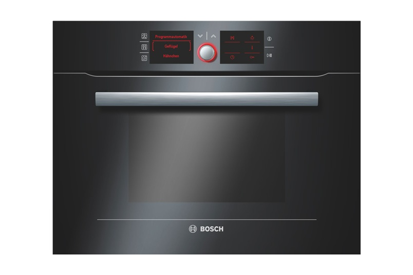 Stainless steel 60cm built-in combination steam oven.