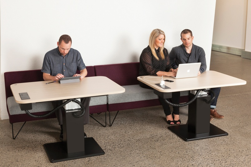 Shift Single tables with Escape soft seating.