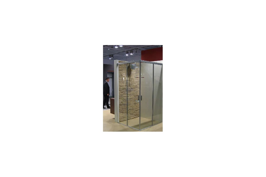 Sliding systems for all glass shower cubicles